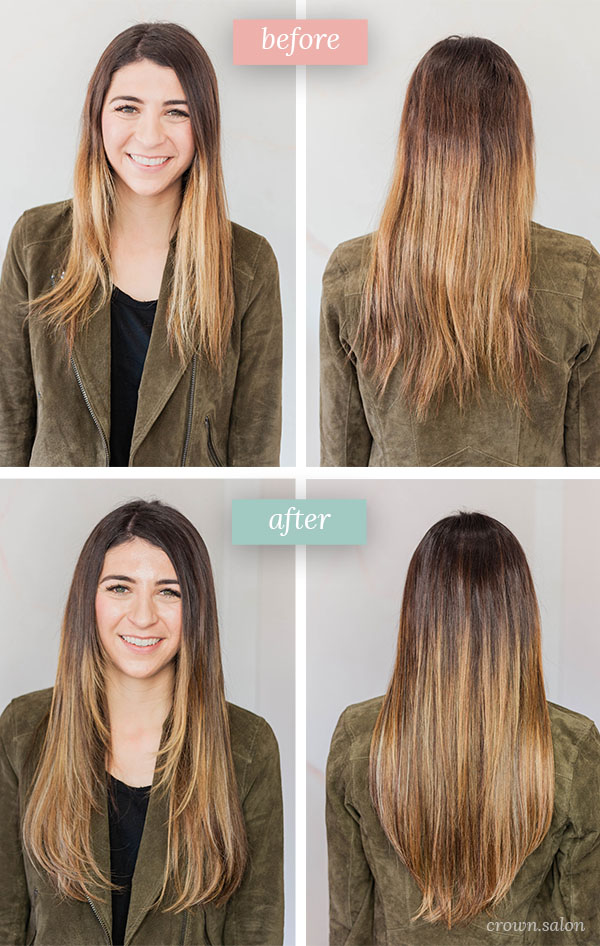 Lo-Botkin_Before-and-After_HairExtensions-CrownSalon_ColoradoSprings